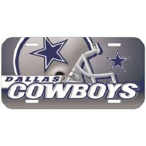 Cowboys Nfl Vinyl License Plate Wincraft 84082371