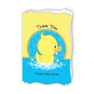 Ducky Duck   Personalized Baby Thank You Cards With