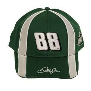 DALE EARNHARDT JR # 88 GREEN GRAY COTTON CAP HAT NASCAR
