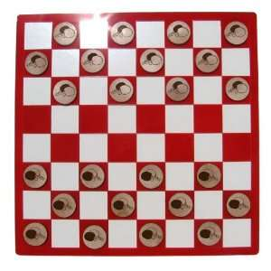 Laser Etched Ping Pong Table Tennis Checkers Set Toys & Games