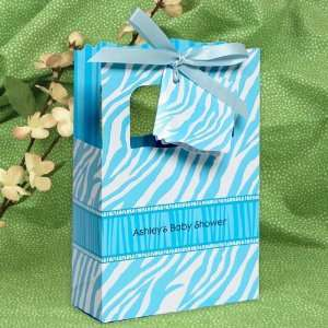 Zebra   Classic Personalized Baby Shower Favor Boxes Toys & Games