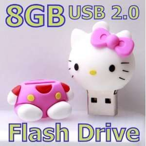 8G 8GB Pink Hello Kitty Cartoon Cat Memory Stick USB Flash