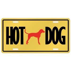 New  English Foxhound   Hot Dog  License Plate Dog