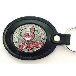MLB Lg. Leather Key Chain   Cleveland Indians