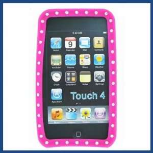 Premium Apple iPod Touch 4 Hot Pink Diamond Skin Case