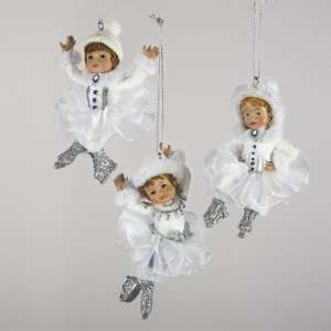 Club Pack of 12 Winter Frost Ice Skating Angel Christmas