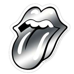 Rolling Stones   Chrome Tongue Sticker