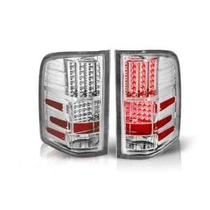 WinJet 07 11 Chevy Silverado LED Tail Lights   (Chrome