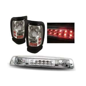 Dodge Ram Chrome Tail Lights + LED 3rd Brake Lights Combo Automotive