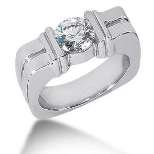 Men s Diamond Ring 1 Round Stone 1.50 ctw 129 MDR1322