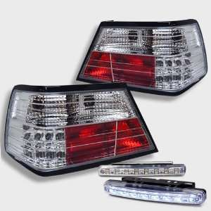 Eautolight Mercedes Benz W124 E Class Chrome Tail Light Lamps with DRL