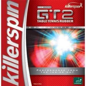 Killerspin GT2 Table Tennis Rubber BLACK 2.0 MM Sports