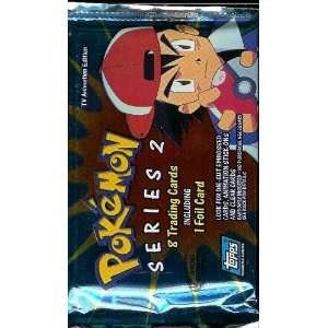 Topps Pokemon Series 2 Trading Card Pack   8 cards per
