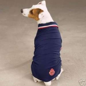 Zack & Zoey Nautical Polo Dog Shirt NAVY MEDIUM Kitchen