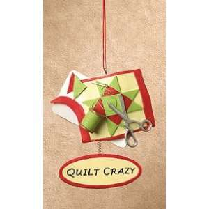 Red & Green Quilt Crazy Quilters Christmas Ornament