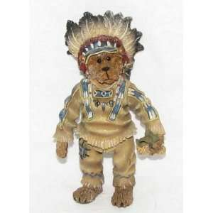 Boyd Bear Chief Sittingbear Shoe Box Bears Figurine