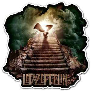 Led Zeppelin Angel Rock Band Car Bumper Sticker Decal 4.5