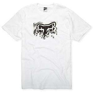 Fox Racing Shredder T Shirt   Large/White Automotive