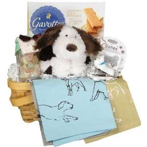 Puppy Love Dog Themed French Gift Basket Grocery & Gourmet Food