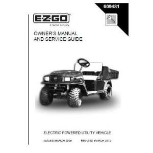 Guide for Electric ST Sport Utility Vehicle Patio, Lawn & Garden