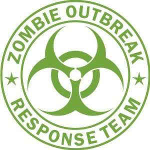 Zombie Outbreak Response Team Lime Green Die Cut Vinyl