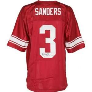 Barry Sanders Signed Nike Red High School Jersey