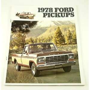 1978 78 FORD PICKUP Truck BROCHURE CATALOG Everything