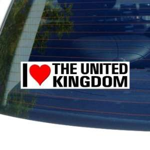 I Love Heart THE UNITED KINGDOM   Window Bumper Sticker