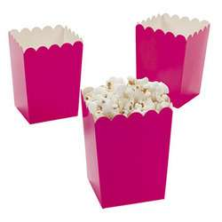 24 Hot Pink Open Treat Boxes Party Favors