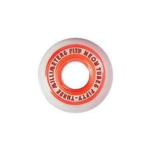 Flip Neon Tube 53mm Red Skateboard Wheels (Set of 4