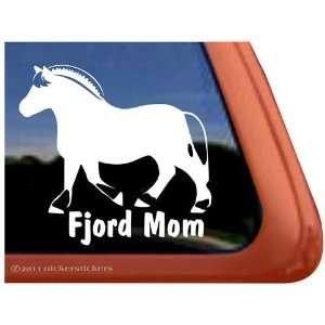 Norwegian Fjord Vinyl Window Horse Trailer Decal Sticker Automotive
