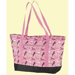 Wildkin Kids Tote Bags Horses in Pink