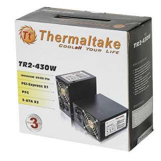 Thermaltake 430w Dual Fan ATX Power Supply